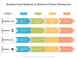 Quarterly Visual Roadmap For Electronic Product Development