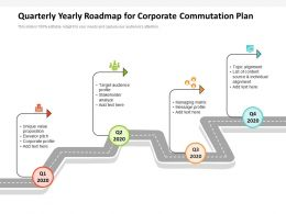 Quarterly Yearly Roadmap For Corporate Commutation Plan