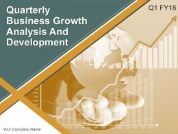 Quaterly Business Growth Analysis And Development Powerpoint Presentation Slides