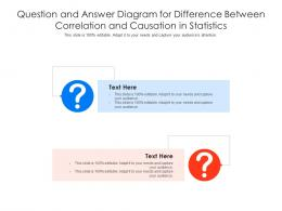 Question And Answer Diagram For Difference Between Correlation And Causation In Statistics Infographic Template