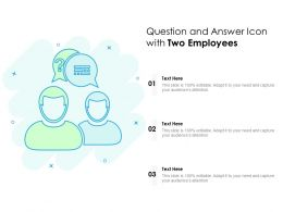Question And Answer Icon With Two Employees