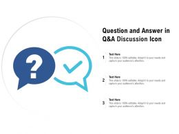 Question And Answer In Q And A Discussion Icon