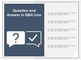 Question And Answer In Q And A Icon