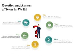 Question And Answer Of Team In 5w1h
