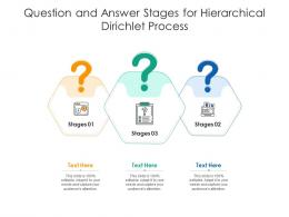 Question And Answer Stages For Hierarchical Dirichlet Process Infographic Template