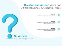 Question And Answer Visual For Different Business Ownership Types Infographic Template