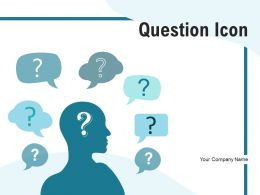 Question Icon Employee Electronic Monitor Representing Thoughts Objectives
