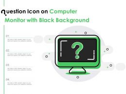 Question Icon On Computer Monitor With Black Background