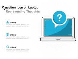 Question Icon On Laptop Representing Thoughts