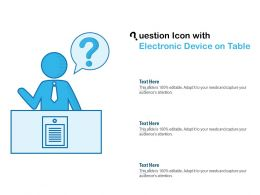 Question Icon With Electronic Device On Table