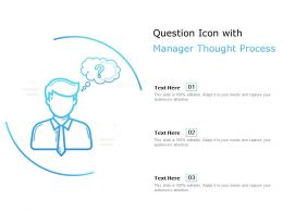 Question Icon With Managers Thought Process