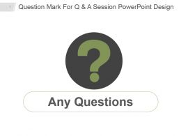 Question Mark For Q And A Session Powerpoint Design
