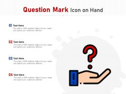 Question Mark Icon On Hand