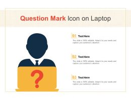 Question Mark Icon On Laptop