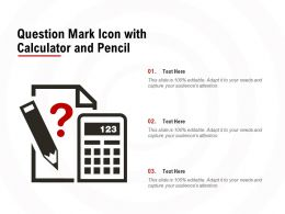 Question Mark Icon With Calculator And Pencil