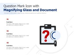 Question Mark Icon With Magnifying Glass And Document