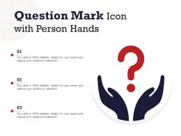 Question Mark Icon With Person Hands