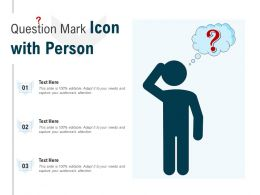 Question Mark Icon With Person