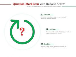 Question Mark Icon With Recycle Arrow