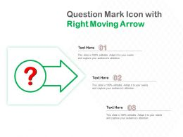 Question Mark Icon With Right Moving Arrow