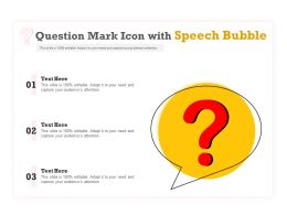 Question Mark Icon With Speech Bubble