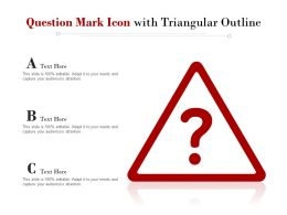 Question Mark Icon With Triangular Outline