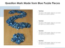 Question Mark Made From Blue Puzzle Pieces
