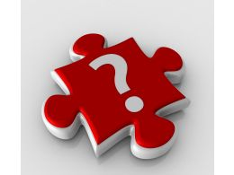 Question Mark On Puzzle Stock Photo