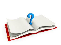 Question Mark Over A Book Stock Photo