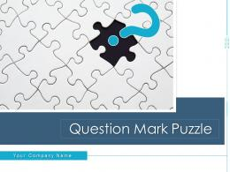 Question Mark Puzzle Individual Holding Road Sign Symbol