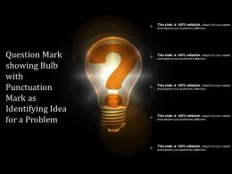 Question Mark Showing Bulb With Punctuation Mark As Identifying Idea For A Problem