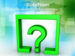 Question Mark Under Rectangle Finance Powerpoint Templates Ppt Themes And Graphics 0113