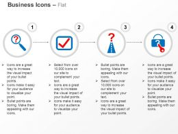 Question Search Checklist Solution Roadmap Secure Solutions Ppt Icons Graphics