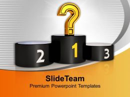 Question Sign On Podium Winner Powerpoint Templates Ppt Themes And Graphics 0213