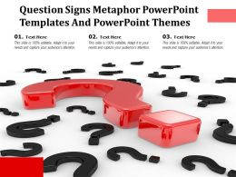 Question Signs Metaphor Powerpoint Templates And Powerpoint Themes