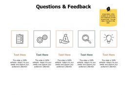 Questions And Feedback Communication J220 Ppt Powerpoint Presentation File
