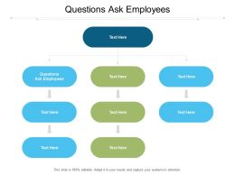 Questions Ask Employees Ppt Powerpoint Presentation Icon Cpb