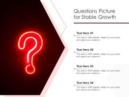 Questions Picture For Stable Growth Infographic Template