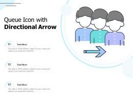 Queue Icon With Directional Arrow