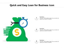 Quick And Easy Loan For Business Icon
