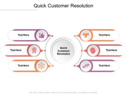 Quick Customer Resolution Ppt Powerpoint Presentation File Diagrams Cpb