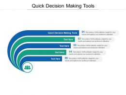 Quick Decision Making Tools Ppt Powerpoint Presentation Introduction Cpb