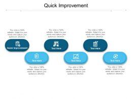 Quick Improvement Ppt Powerpoint Presentation Portfolio Demonstration Cpb