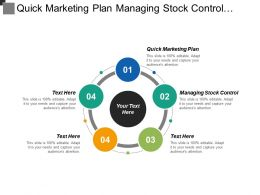 Quick Marketing Plan Managing Stock Control Business Communication Cpb