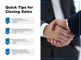 Quick Tips For Closing Sales