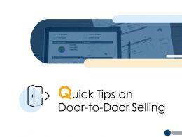 Quick Tips On Door To Door Selling Planning A222 Ppt Powerpoint Presentation