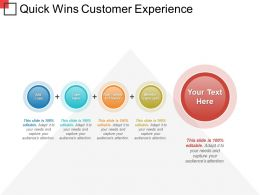 Quick Wins Customer Experience Powerpoint Slides