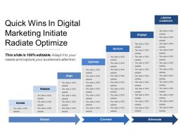 Quick Wins In Digital Marketing Initiate Radiate Optimize