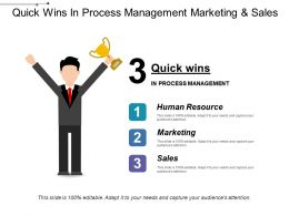 Quick Wins In Process Management Marketing And Sales