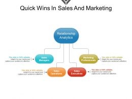 Quick Wins In Sales And Marketing Powerpoint Topics